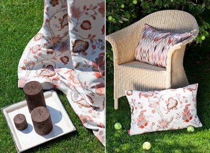 Pled i poduszka do aranżacji ogrodu i tarasu